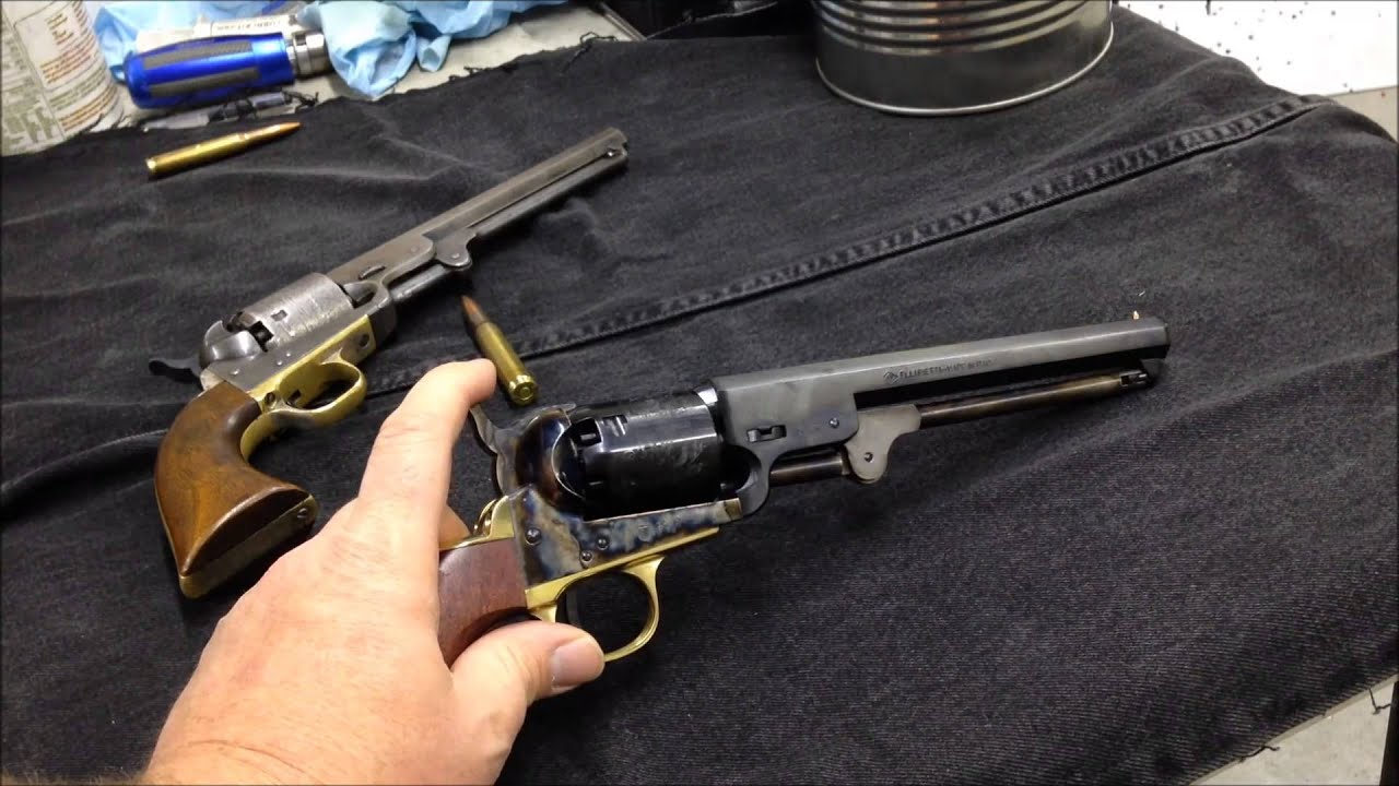 pietta 1851 colt navy yank pistol 36 unboxing and compared to