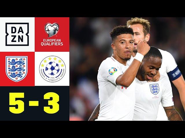Sanchos Premierentreffer beenden Kosovo-Siegesserie: England - Kosovo 5:3 | EM-Quali | DAZN