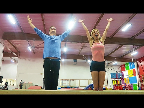 REBECCA TEACHES ME GYMNASTICS - (Day 39)