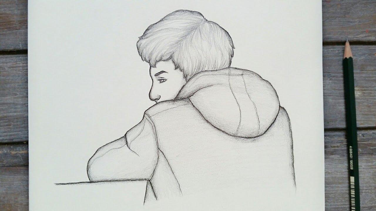 رسم سهل تعليم رسم ولد سهل بالرصاص للمبتدئين بطريقة سهلة وبسيطة رسم كيوت Youtube