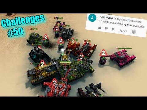10 Wasp Overdrive Vs 1 Titan! - Challenges #50 Tanki Online!