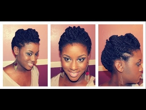 Two Strand Twists Updo Double Dose Youtube