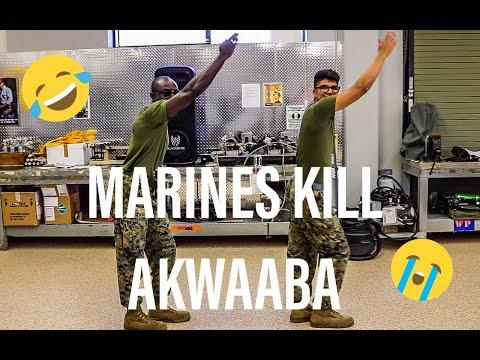 MARINES KILLING GHANA AKWAABA DANCE CHALLENGE!!!