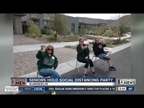 Las Vegas Seniors Hold Social Distancing Block Party