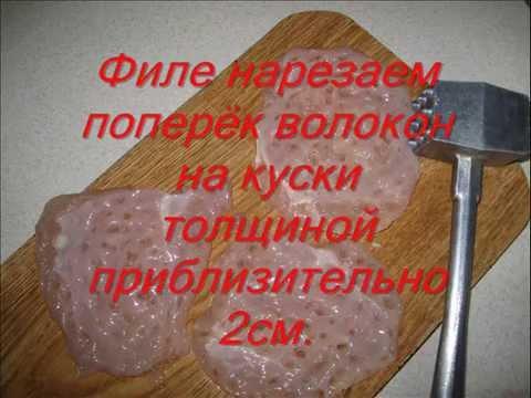 как нарезать куриную грудку на отбивные