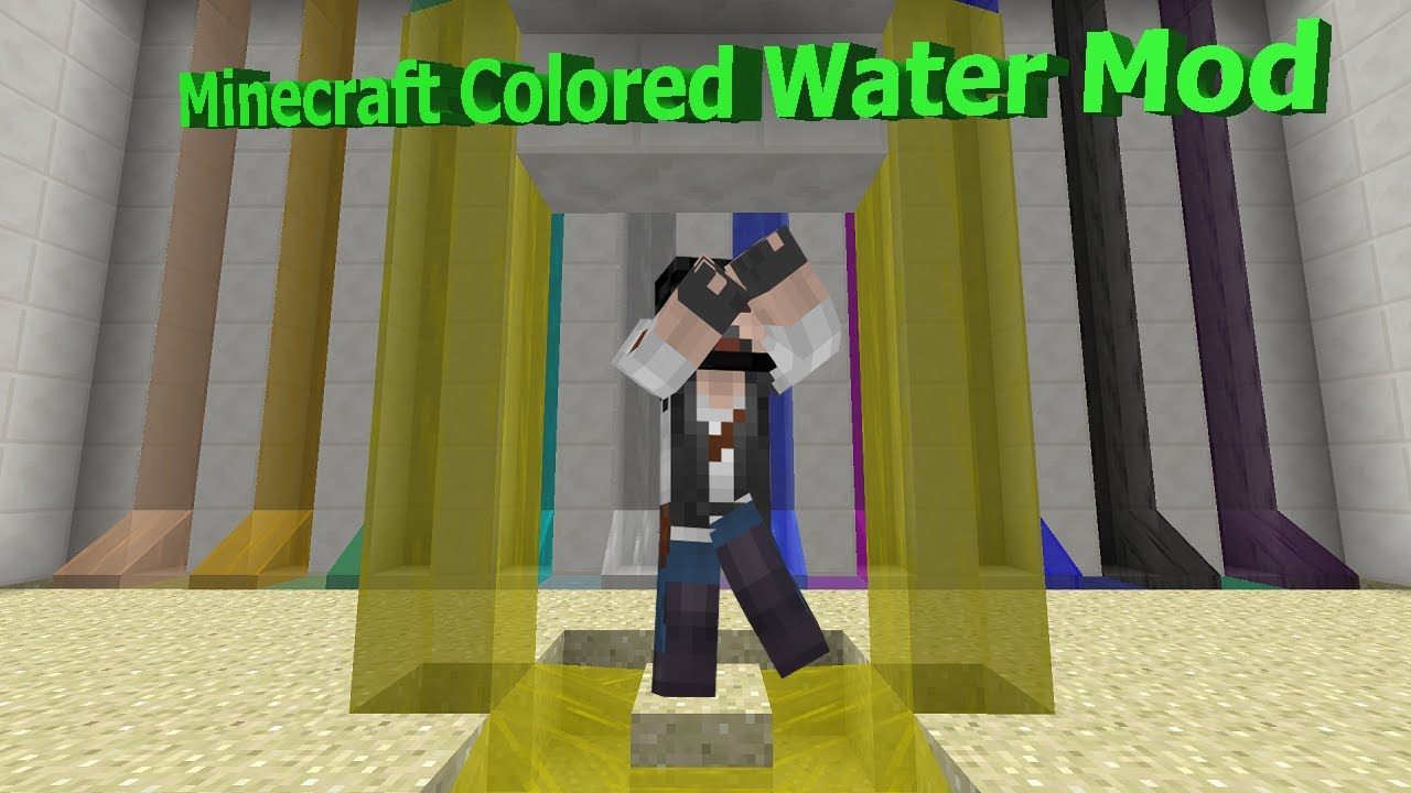 Pee Water In Minecraft Colored Water Mod Spotlight Youtube