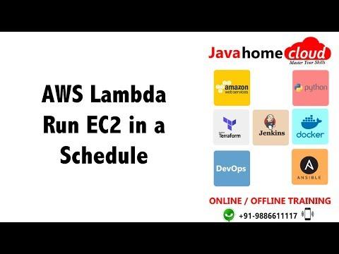AWS Lambda : run EC2 instances in schedule using python