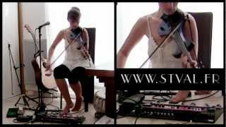 Loop song #1: Electric violin, accordina, voice & Guitar Loop Pedal RC-300 Boss