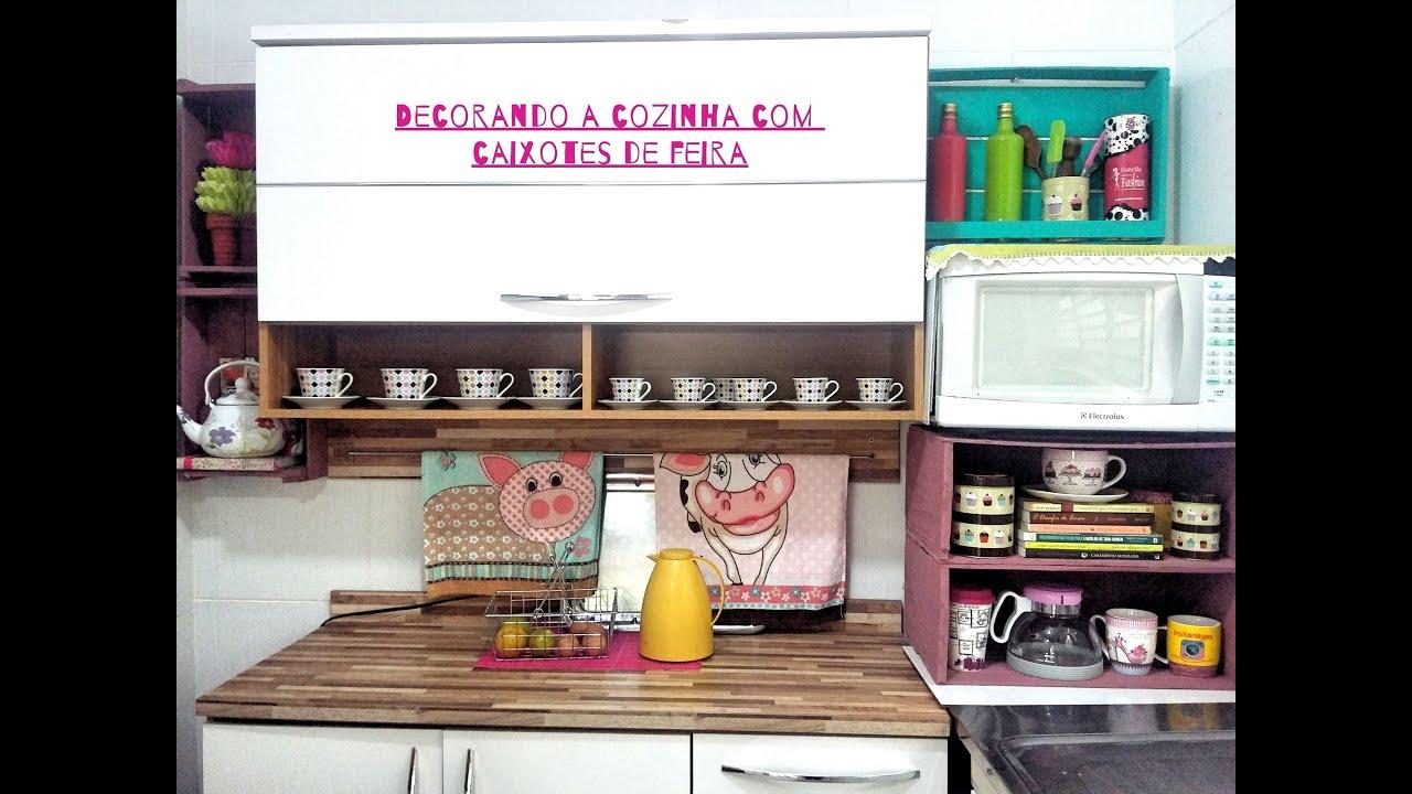 Kit Adesivo Joia De Unha ~ Decore voc u00ea mesma Cozinha fofa com caixotes de feira Fábia Oliveira YouTube