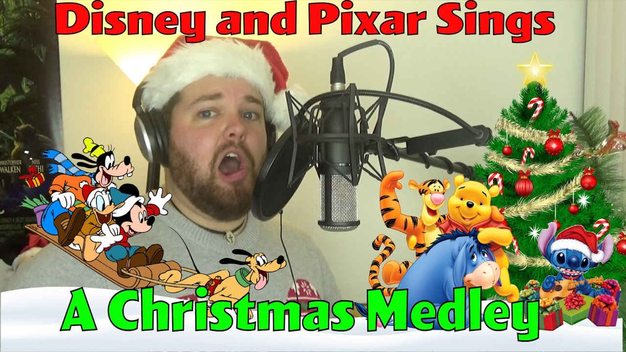 Disney and Pixar Sings A Christmas Medley - YouTube