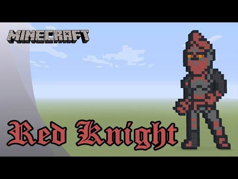 Minecraft Pixel Art Tutorial And Showcase Red Knight