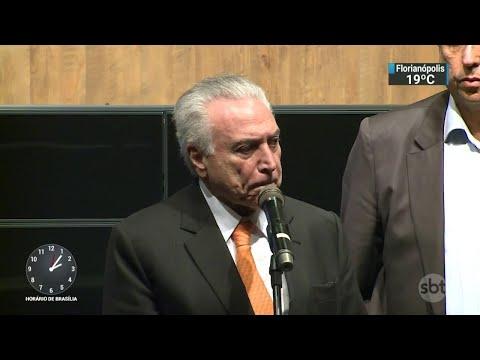 Temer visita gabinete da intervenção no Rio pela primeira vez | SBT Notícias (22/03/18)