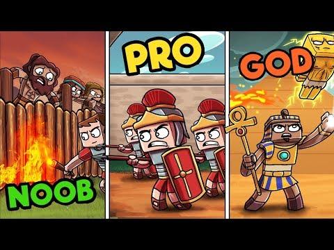 Minecraft - ANCIENT FORTRESS WARS! (NOOB vs PRO vs GOD)