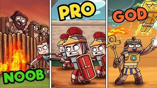 Minecraft - ANCIENT FORTRESS WARS! (NOOB vs PRO vs GOD)