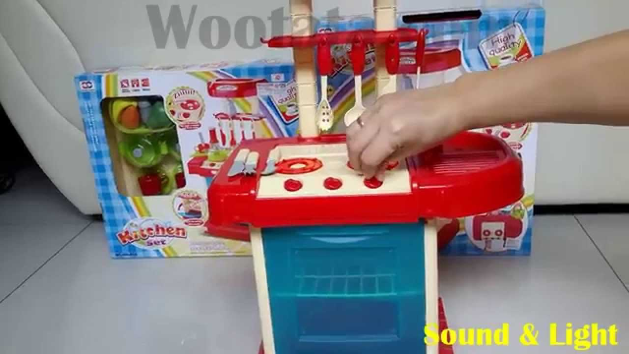 Mainan Dapur Anak Paling Bagus Kitchen Set Biru Youtube