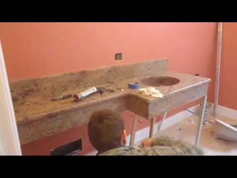 The incredible floating granite counter top short version