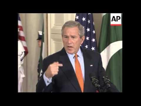 Bush meets Pakistani President, presser