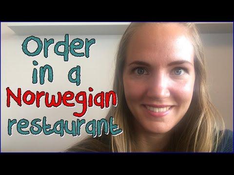 How to order in a restaurant in Norwegian
