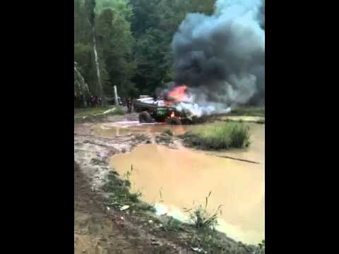Fish creek wv truck burn youtube for West virginia out of state fishing license