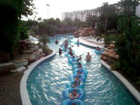 Tubing At Orange Lake Resort In Orlando August 2011 Youtube