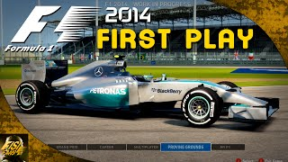 F1 2014 | First Play - McLaren Gameplay & Menus (Live Commentary)
