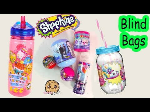Shopkins Drink Containers Blind Bag Surprise Toys From Squishy Pops MLP Disney Frozen