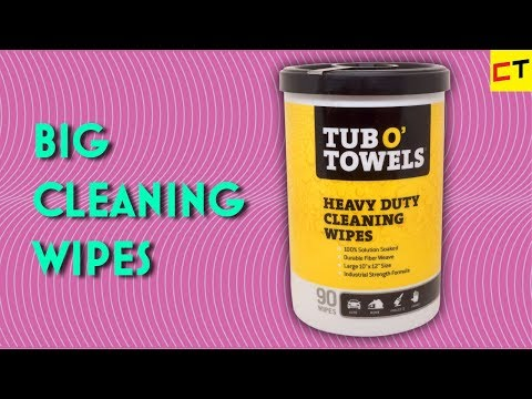 Heavy duty disposable wipes