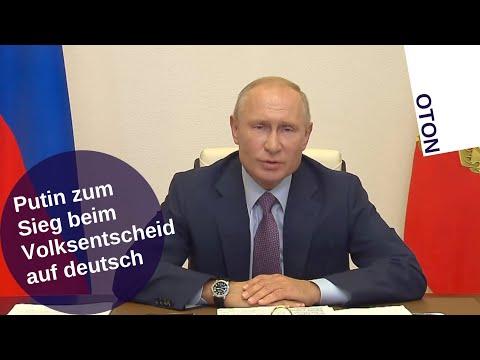 Putin zum Sieg beim Volksentscheid auf deutsch