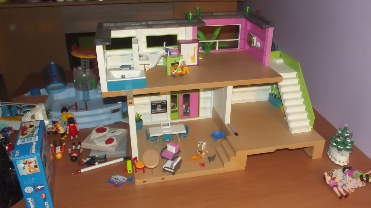 accessoires playmobil maison moderne. Black Bedroom Furniture Sets. Home Design Ideas
