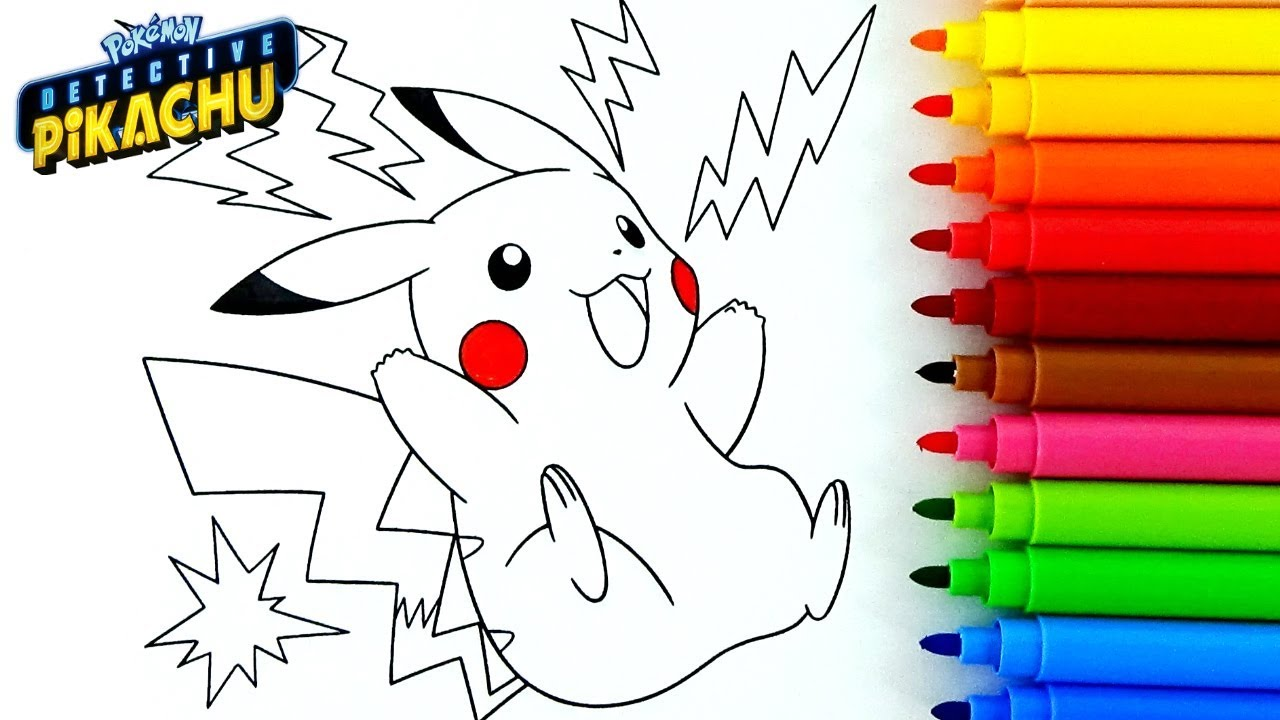 Detective Pikachu Para Colorear Y Dibujos De Pokemon