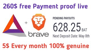 Brave browser Big earning application | 260$ payment proof 100% genuine online Earning app Crypto24