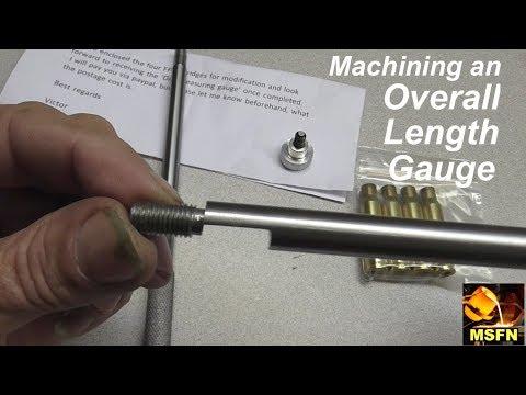 Machining an Overall Length Gauge (OAL Gauge) & New MILL!- MSFN