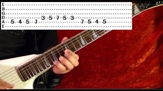 DON'T FEAR THE REAPER Solo - Blue Oyster Cult - Guitar Lesson