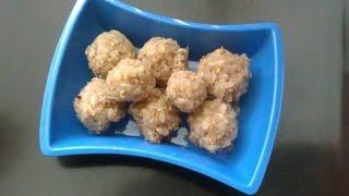 Groundnut-Flattened rice Laddu [HD] (వేరుసెనగ అటుకులు లడ్దు)