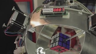world record first robot to solve a rubik s cube in under 1 second 0 887 s