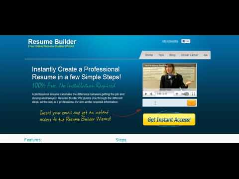 Resume Builder Wiz - Free Online Resume Wizard - YouTube