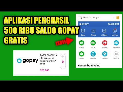 Langsung Di Transfer 500 Ribu Saldo Gopay Gratis Aplikasi Penghasil Gopay Tercepat Youtube