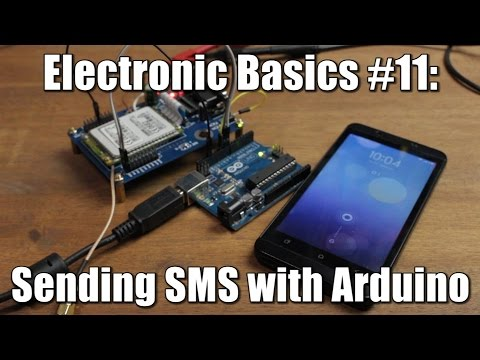 Electronic Basics #11: Sending SMS with Arduino || TC 35 GSM Module