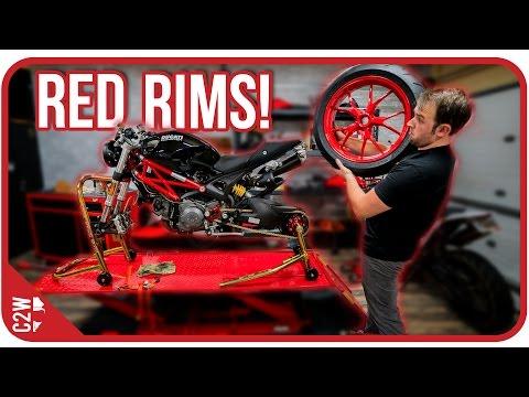 FINALLY getting the wheels back! [Wrecked Bike Rebuild - Ep. 10 - Ducati Monster 1100]