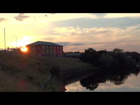 Summer Setting Sun Harbour River Tay Perth Perthshire Scotland