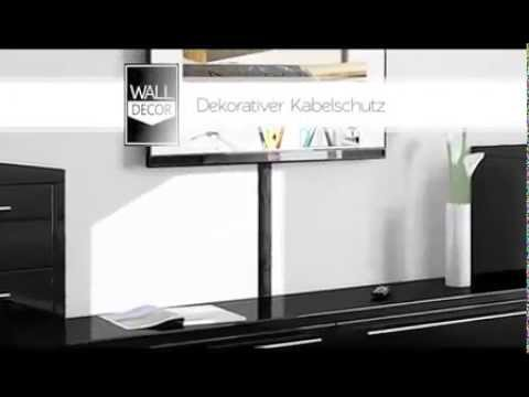 kabelkanal wall decor design tv kabelschacht selbstklebend youtube. Black Bedroom Furniture Sets. Home Design Ideas