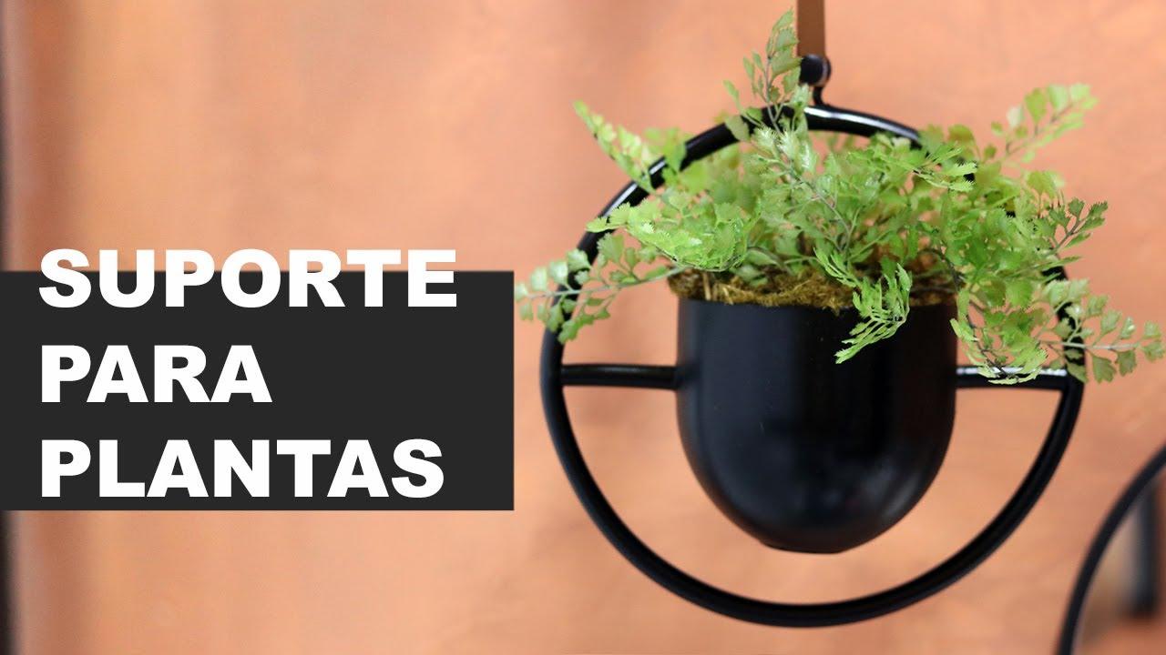 DECORAÇÃO BAIXO CUSTO | COMO FIZ SUPORTE DE PLANTAS GASTANDO MUITO POUCO