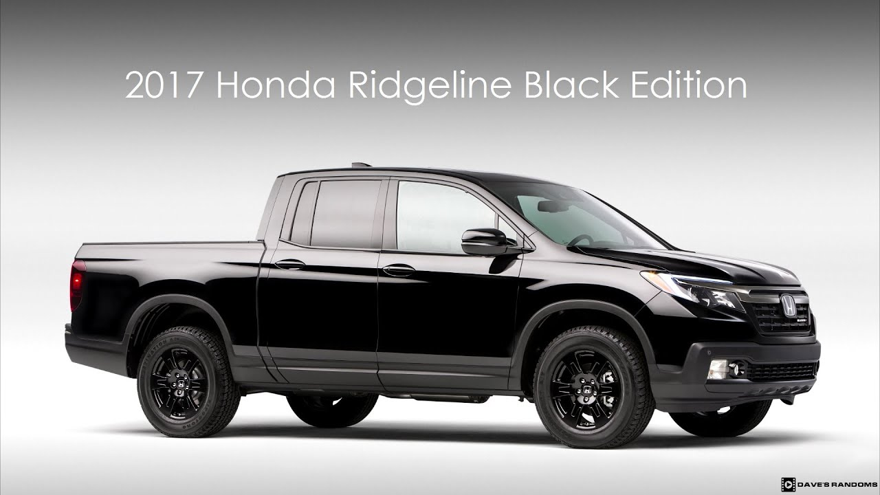 2017 Honda Ridgeline Black Edition Exterior Interior Youtube