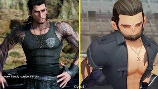 Final Fantasy XV Pocket Edition vs PS4 Pro Graphics Comparison