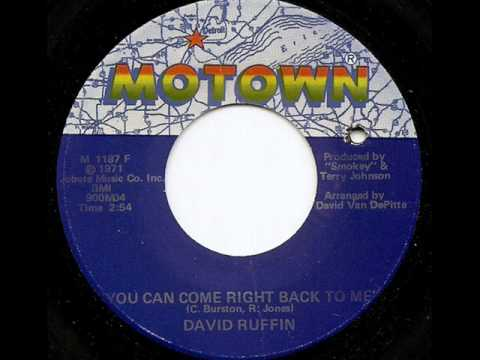 DAVID RUFFIN - YOU CAN COME RIGHT BACK TO ME (MOTOWN)