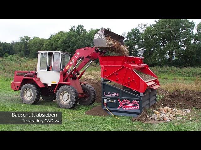 XAVA Rüttelsieb LS24 Erde Bauschutt sieben / Vibrating Screen for Topsoil and Construction Waste