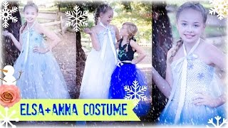 DIY Anna and Elsa FROZEN No Sew TUTU Costume