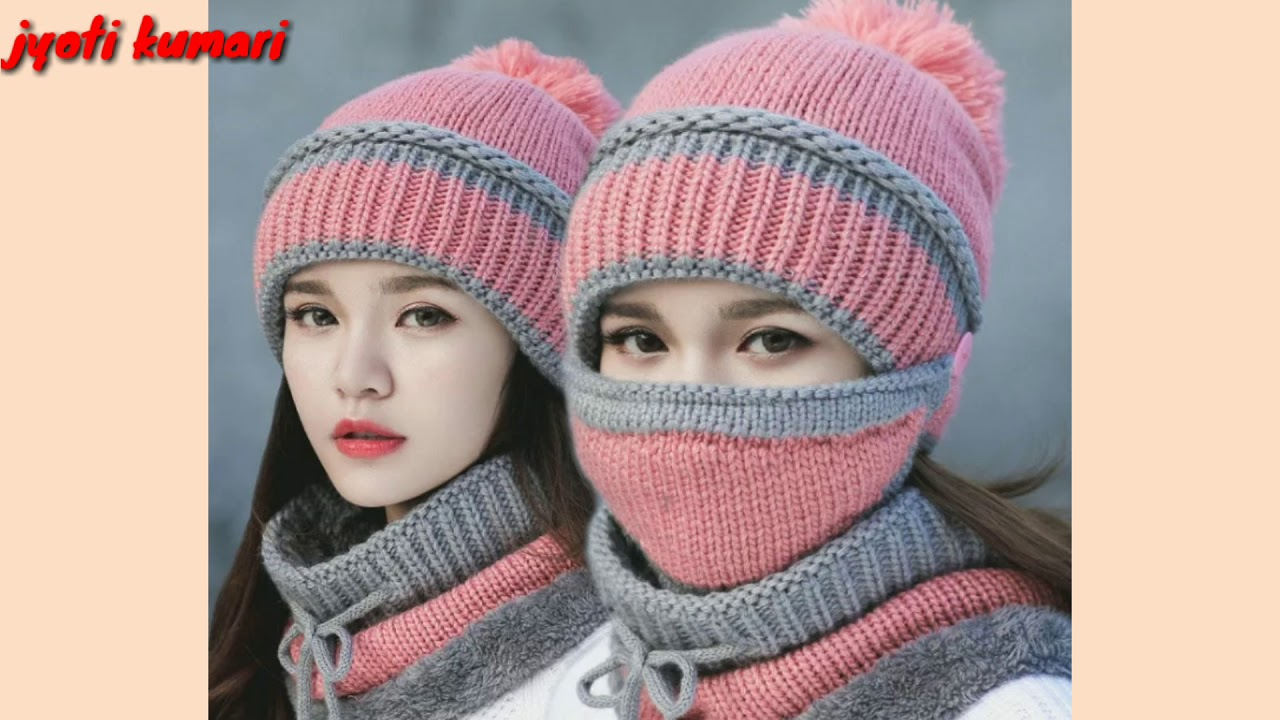 64d330f9f0f Latest beautiful winter hat   cap designs collection 2018 - 19 - YouTube