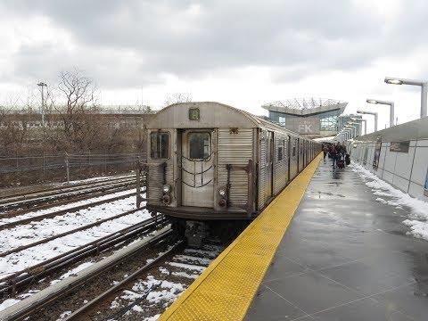 [HD] New York City Subway; A Day After Winter Storm Quinn