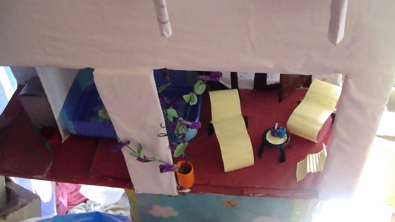 Muebles piscina y lavadero para casas de mu ecas youtube for Como hacer una pileta de cemento